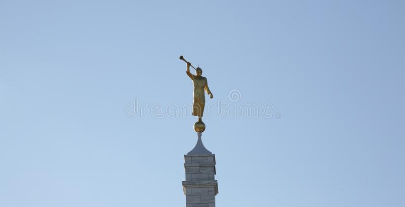 Moroni Angel Blowing Trumpet immagine stock libera da diritti