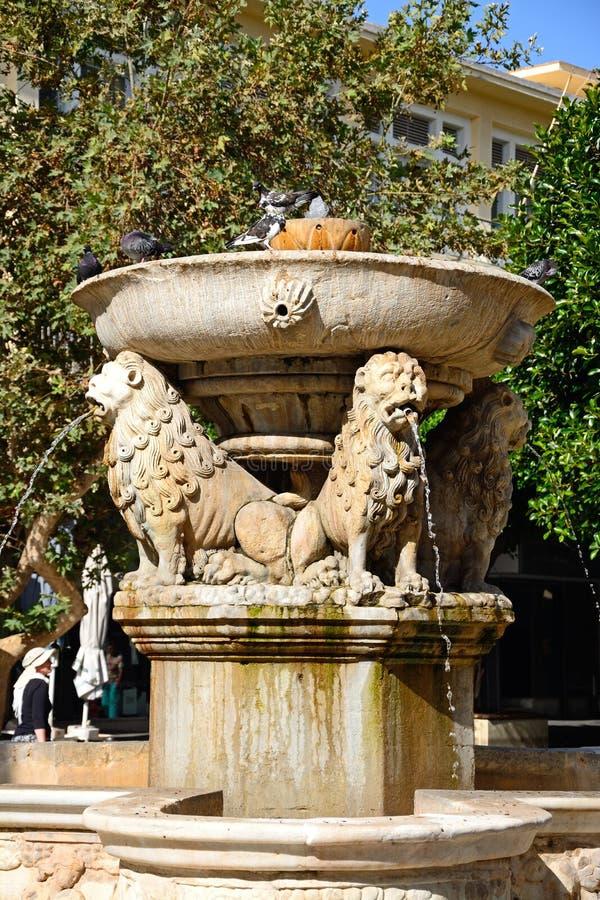 Morosini springbrunn, Heraklion fotografering för bildbyråer