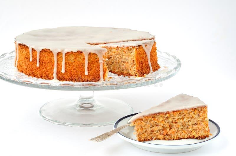 Morot- och mandeltårta royaltyfri bild