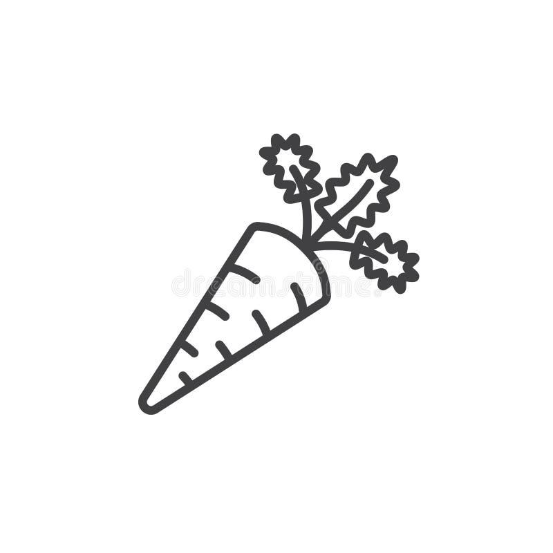 Morotlinje symbol, översiktsvektortecken, linjär pictogram som isoleras på vit stock illustrationer