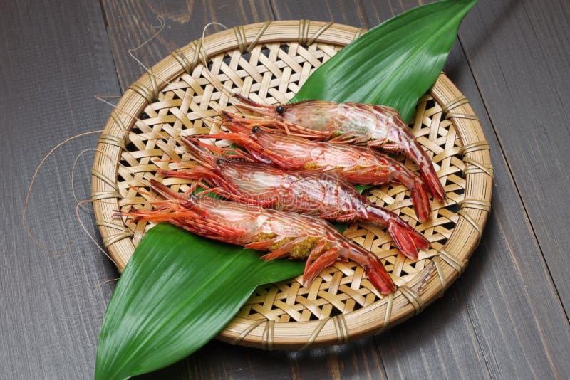 Morotogegarnalen, shimaebi, Japanse zeevruchten royalty-vrije stock fotografie