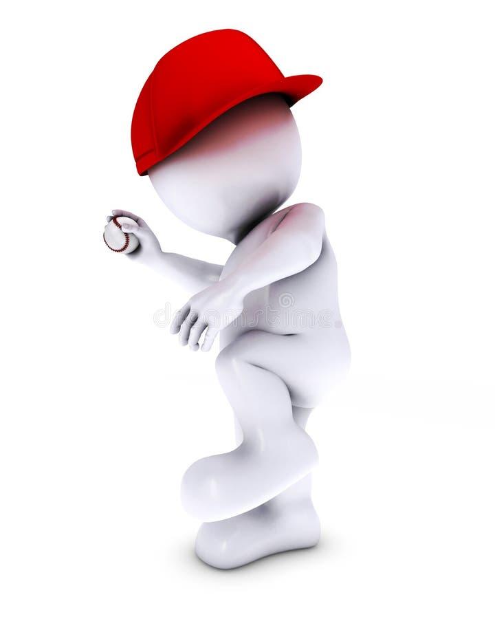 Morph giocar a baseballe dell'uomo royalty illustrazione gratis