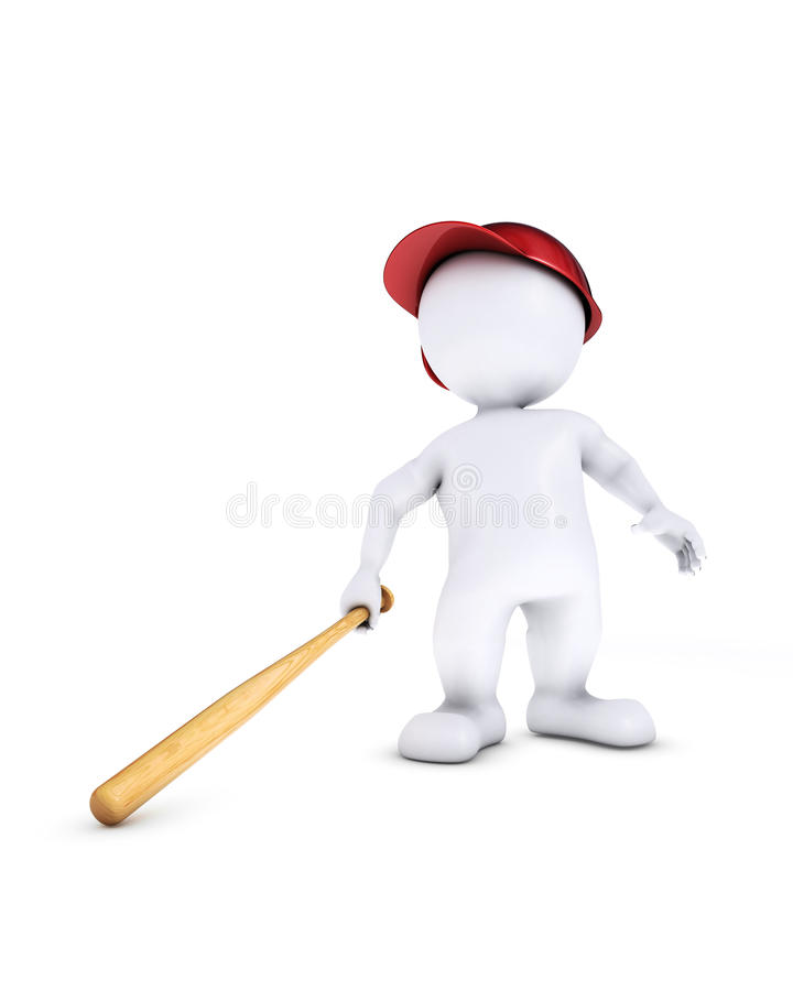 Morph man playing baseball. 3d render of morph man playing baseball vector illustration