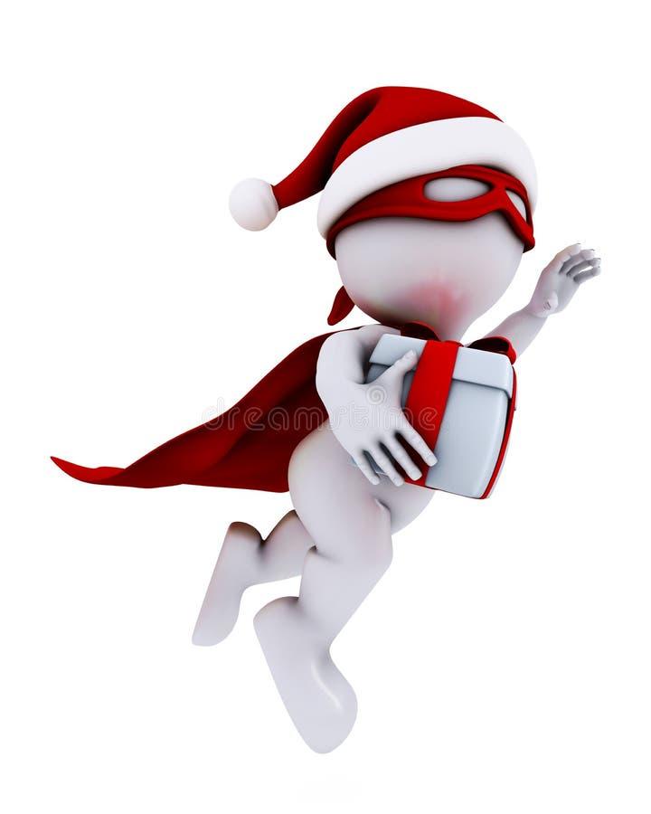 Morph o super-herói de Santa do homem ilustração do vetor