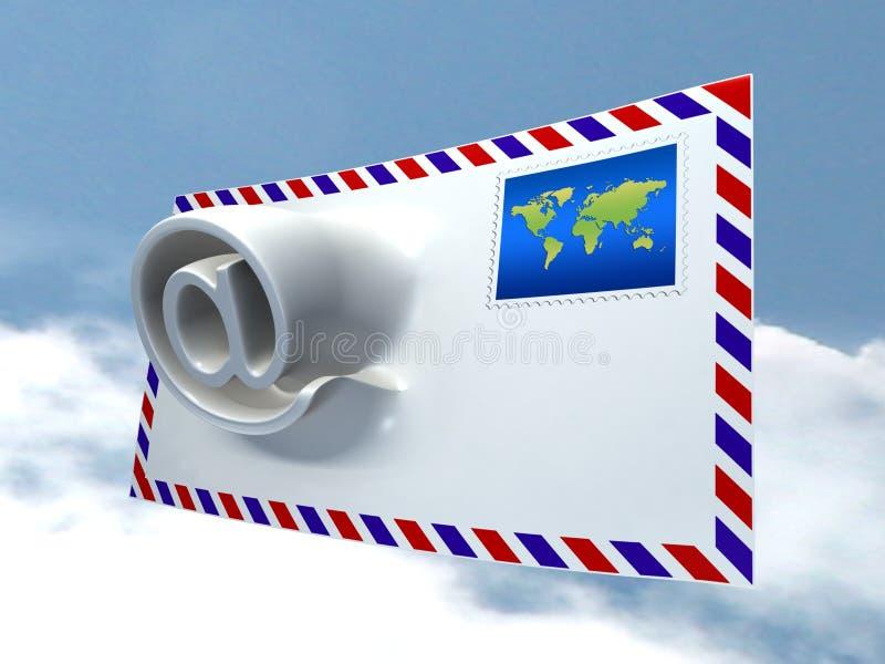 Morphing do correio ilustração royalty free