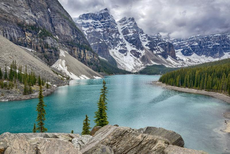 Morraine See Yoho National Park British Columbia Kanada lizenzfreie stockfotografie
