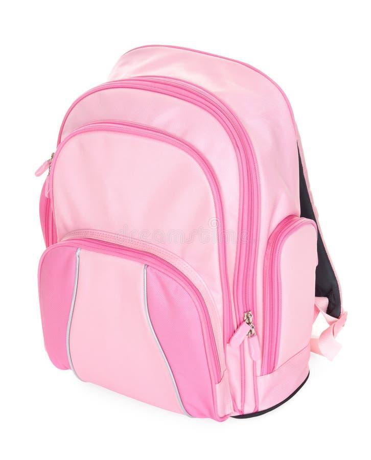 Morral rosado de la escuela fotos de archivo libres de regalías