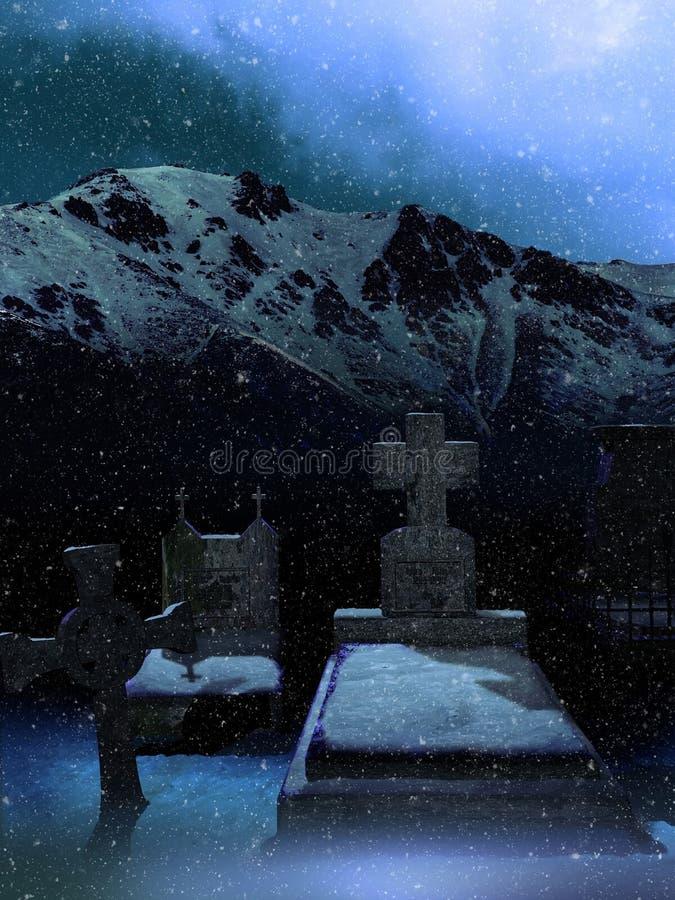 Morreu na montanha ilustração royalty free