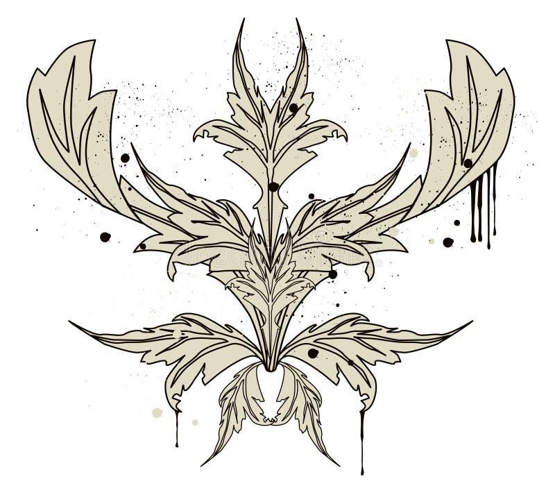 Morris Blätter stock abbildung