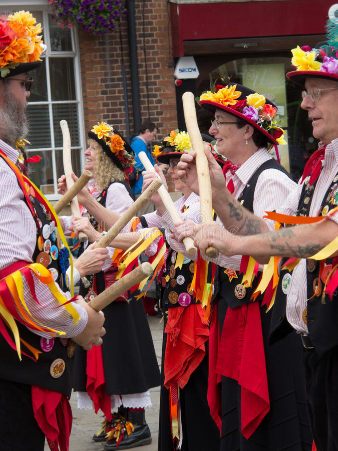 Morris Dancers images libres de droits