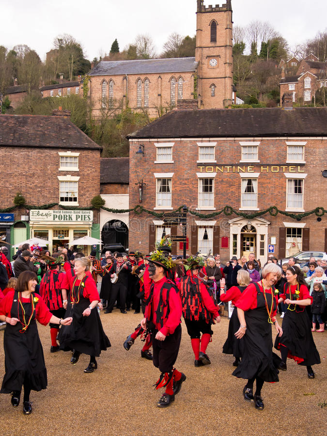 Morris Dancers Performing, England stock photography
