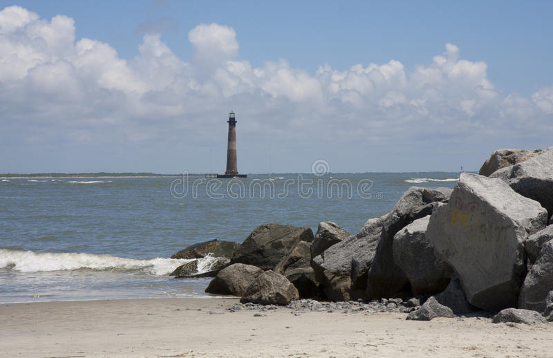 Morris Island Lighthouse stock foto's