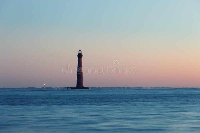 Morris Island Lighthouse en la mañana soleada fotografía de archivo libre de regalías