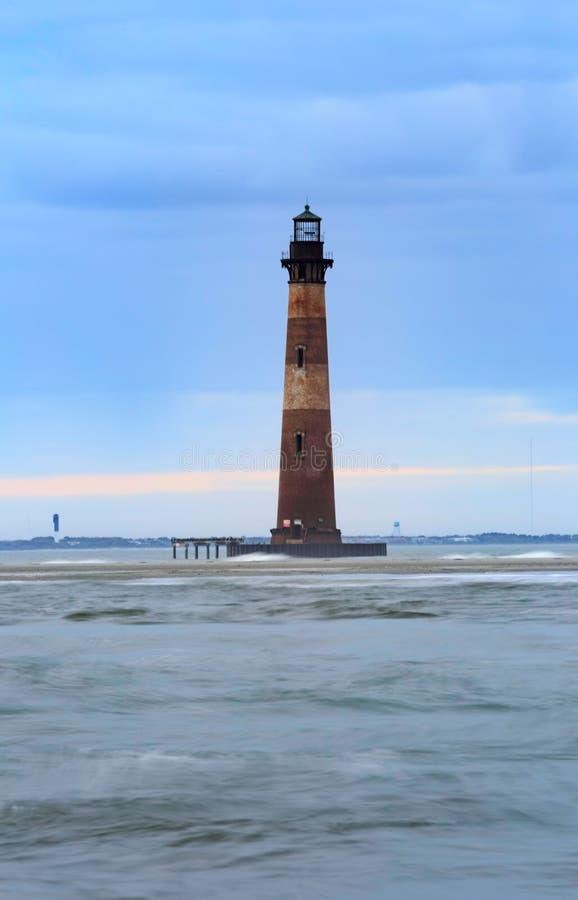 Morris Island Lighthouse Folly Beach Carolina del Sur imagenes de archivo