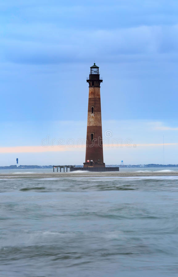 Morris Island Lighthouse Folly Beach South Carolina imagens de stock