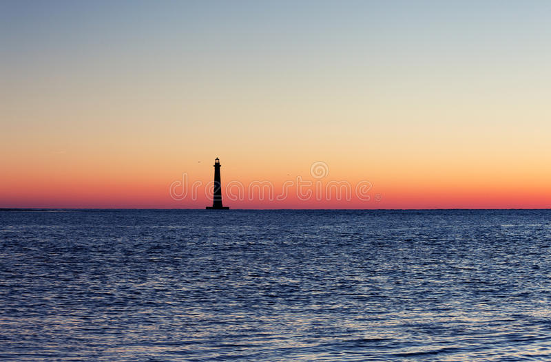 Morris Island Lighthouse at sunrise stock photography
