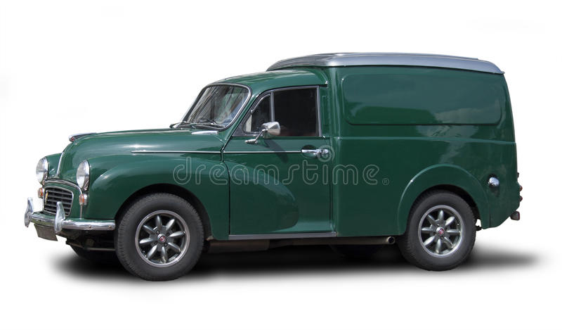 Morris Minor Van. A classic Morris Minor van from the fifties stock photos