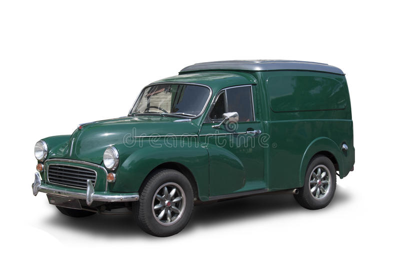 Morris Minor Van. A classic Morris Minor van from the fifties royalty free stock image