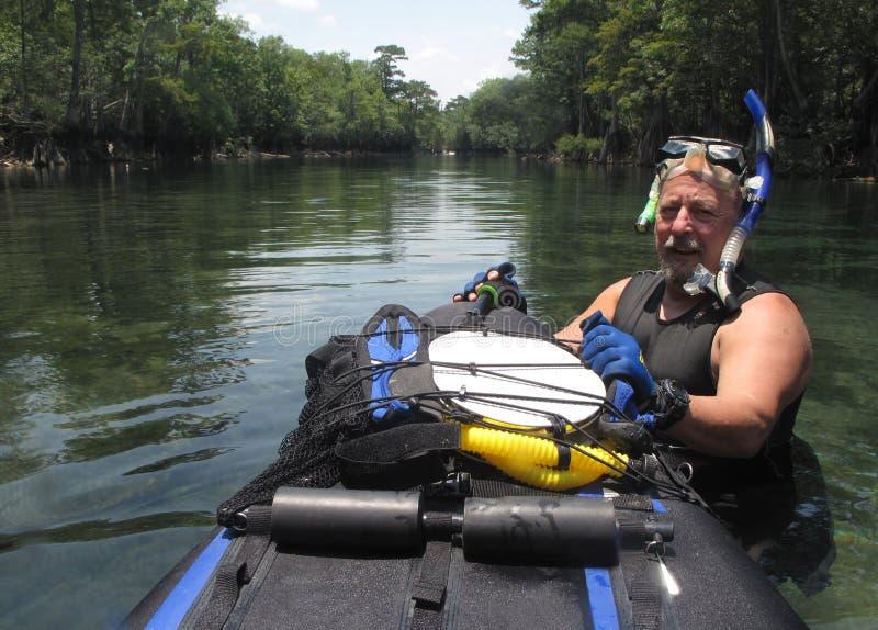 Morrison suelta nadador mayor foto de archivo libre de regalías