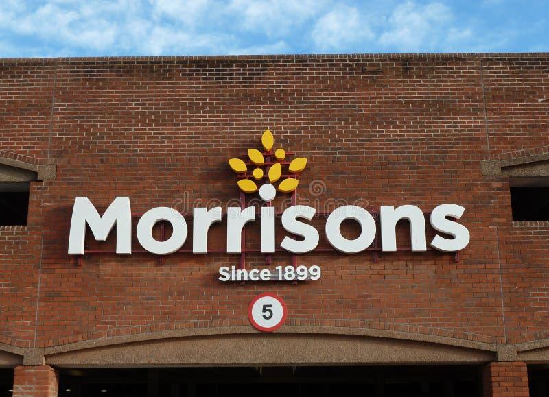 Morrisons超级市场标志商标 库存图片