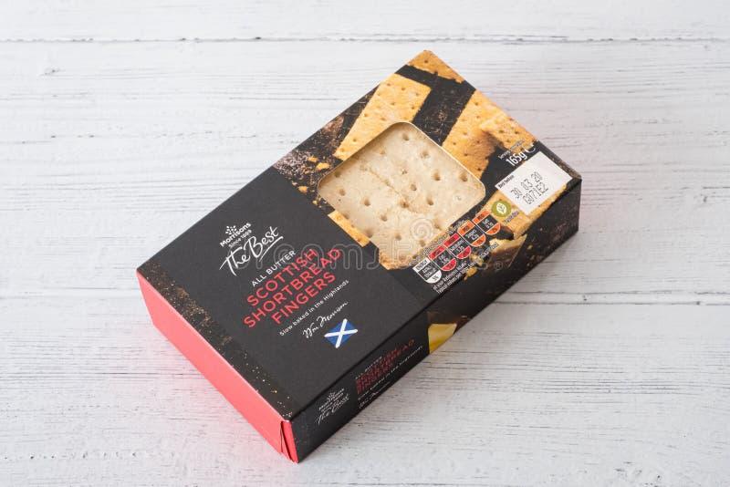 Morrisons Oznakował Shortbread palce w Recyclable Pakować zdjęcie royalty free