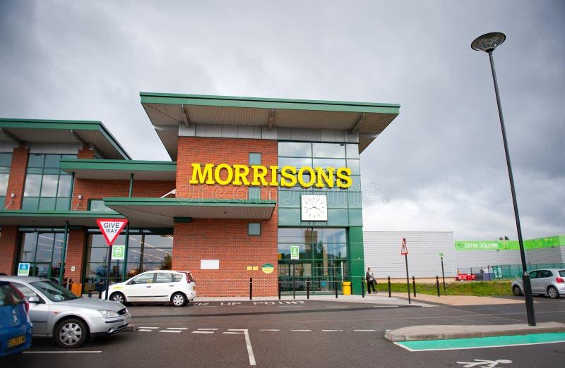 Morrisons sklep w Openshow, Machester, UK obraz stock