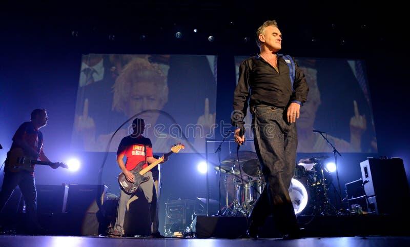 Morrissey, το διάσημοι lyricist και ο αοιδός της ορχήστρας ροκ το Smiths στοκ εικόνες