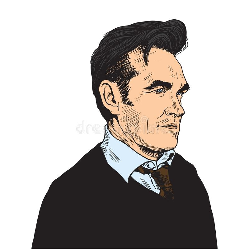 Morrissey Pop Art Portrait Vector stock abbildung