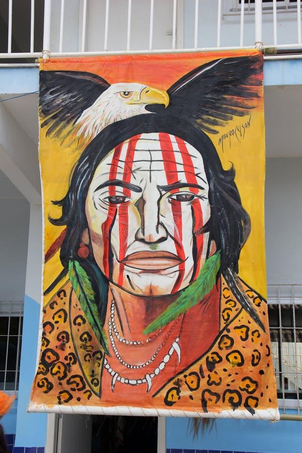 Morro印地安考古学站点重创在里约热内卢 图库摄影