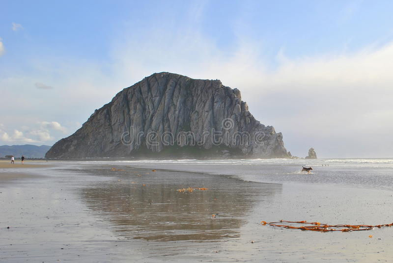 Morro Bay Rock. An image of the Morro Bay Rock stock photography