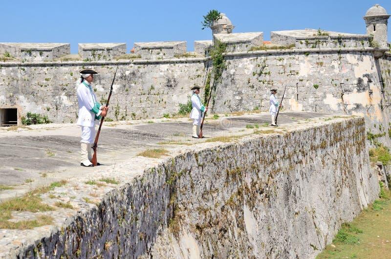 Morro cabanafort i havannacigarren, Kuba royaltyfri fotografi