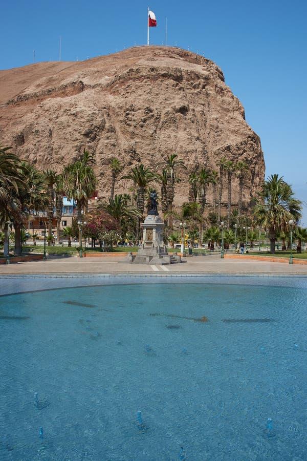 Morro de Arica imagens de stock royalty free