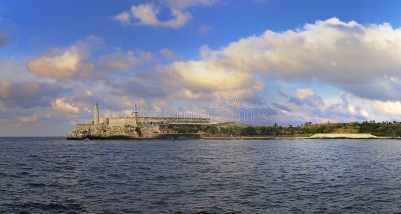 Morro-Festung im Havana-Buchtpanorama stockfoto