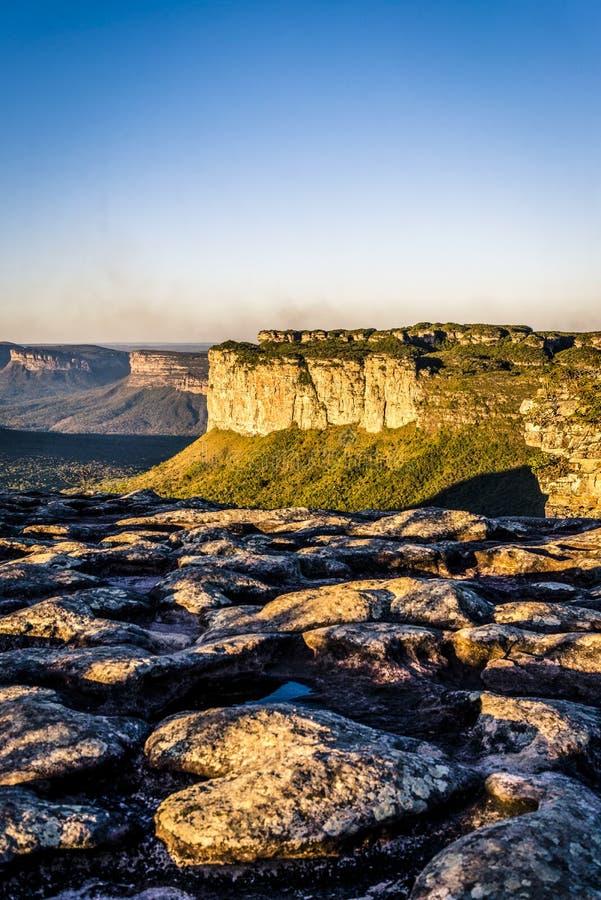 Morro hace a Pai Inacio, Chapada Diamantina, Bahía, el Brasil fotografía de archivo