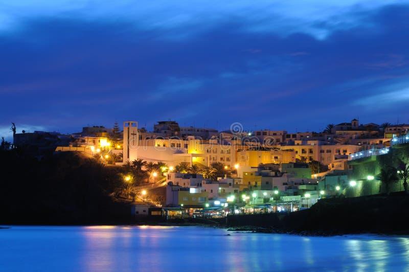 Morro Jable τη νύχτα στοκ φωτογραφία με δικαίωμα ελεύθερης χρήσης