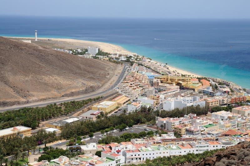 morro jable d'île jaune canari de fuerteventura photos stock