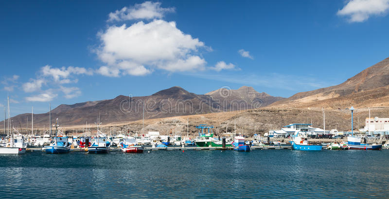 Morro Jable in Fuerteventura, Spain. The harbor of Morro Jable in Fuerteventura, Spain royalty free stock photo