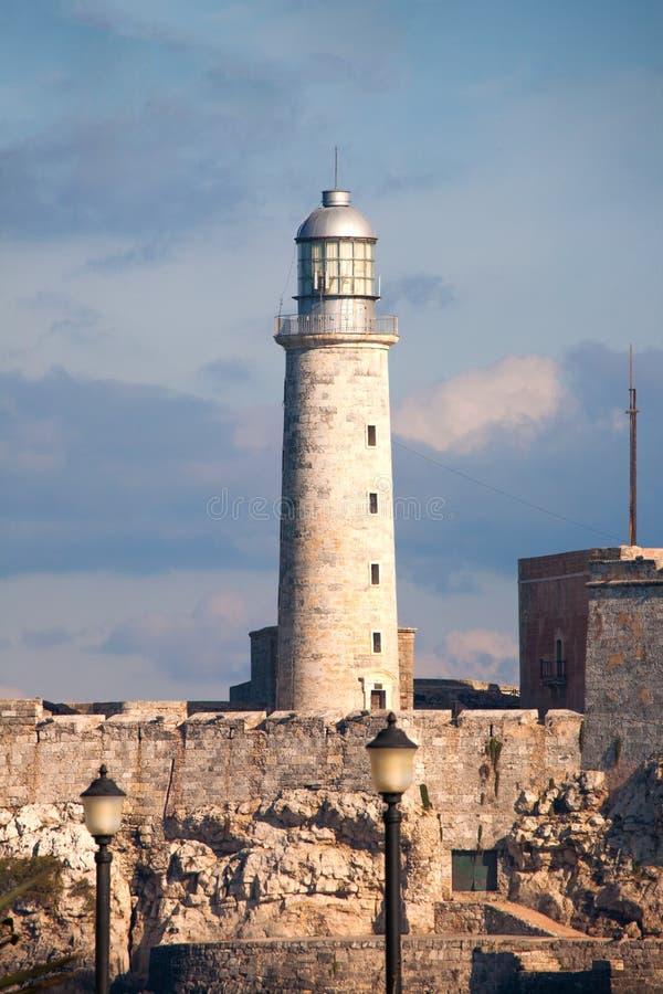 Morro-Leuchtturm in Havana Bay stockbilder