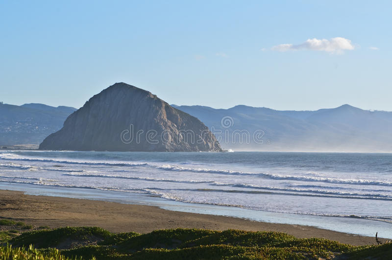 Morro Rock, Central Coast, California Royalty Free Stock Photos
