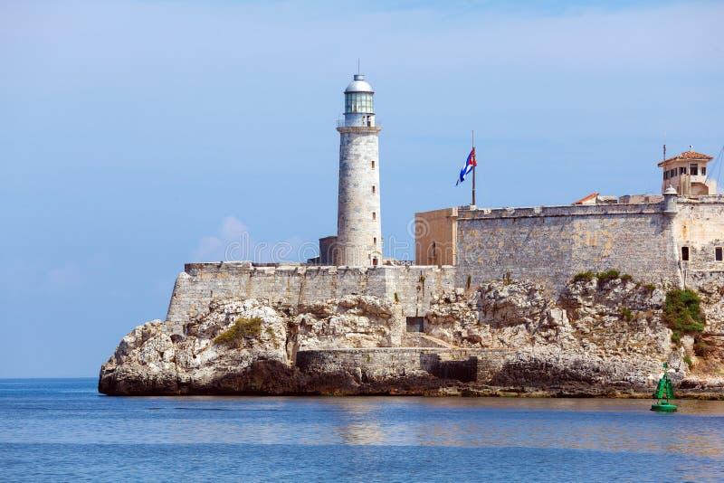 Morro-Schloss, Festung, die den Eingang zu Havana-Bucht, Kuba schützt lizenzfreie stockfotos