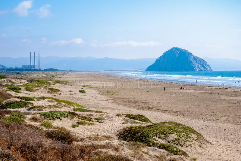Morro State Beach on a Sunny Day royalty free stock image