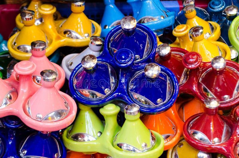 Morrocan garncarstwo używać dla Tajin dishe fotografia royalty free