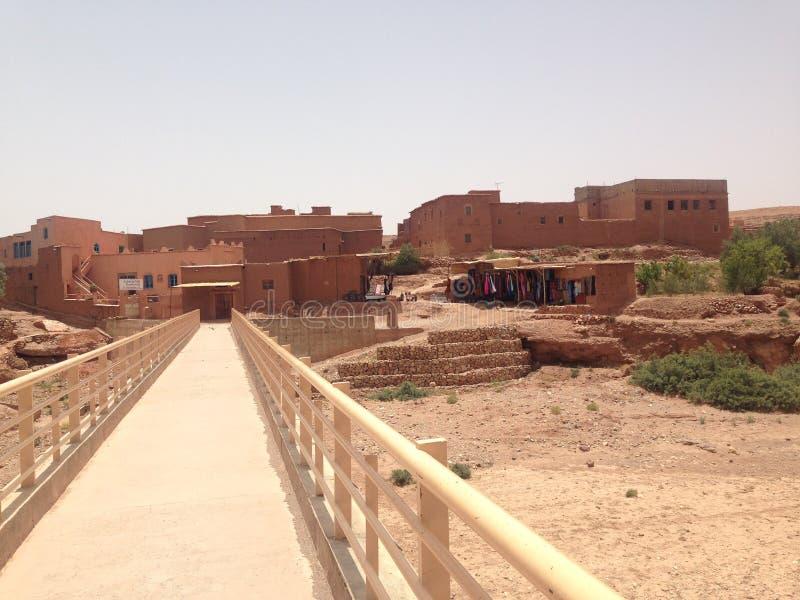 Morroco沙漠麦地那镇 免版税库存照片