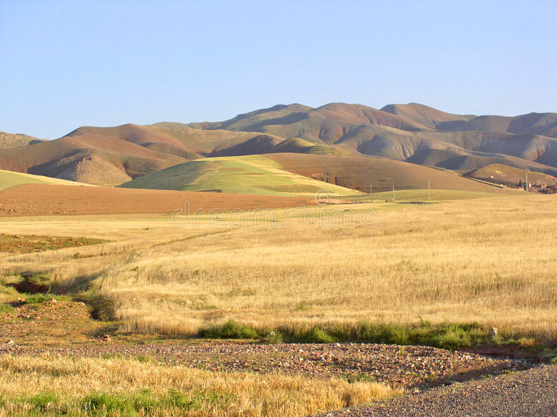 morroco krajobrazu zdjęcie royalty free