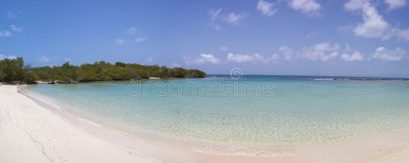Morrocoy Nationaal park, een paradijs met kokospalmen, wit San royalty-vrije stock afbeeldingen