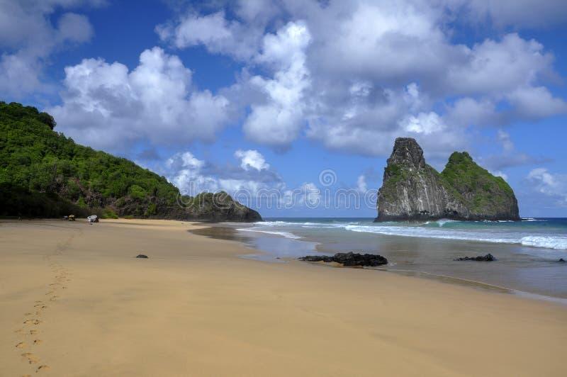 Morros-gemeos, Fernando de Noronha-Insel, Brasilien lizenzfreies stockbild