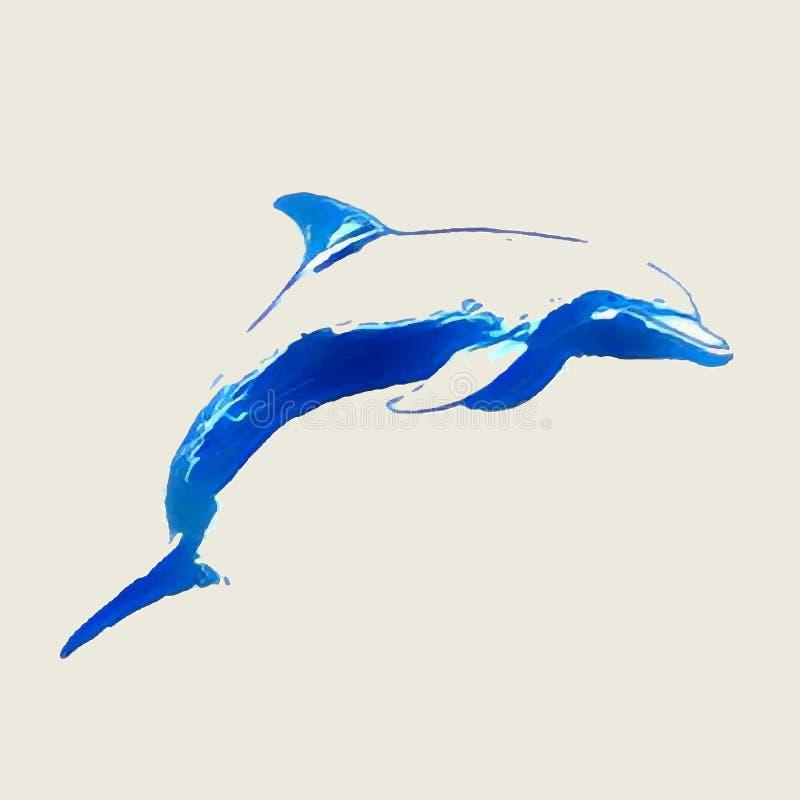 Morscy delfinów skoki royalty ilustracja