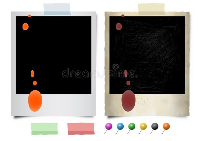 Morserijen op onmiddellijke foto's vector illustratie