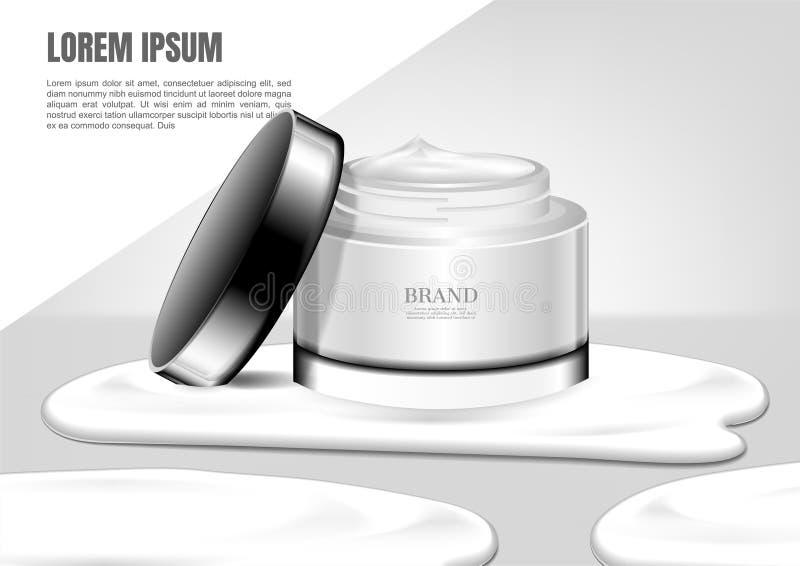 Morserijroom van witte kosmetische kruik vector illustratie
