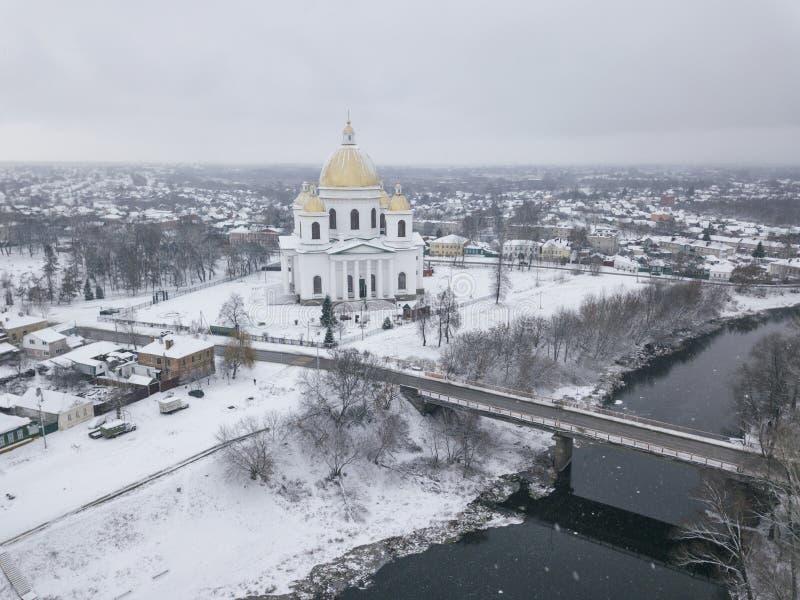 Morshansk miasto Trójcy katedra Rzeczny Tsna fotografia royalty free